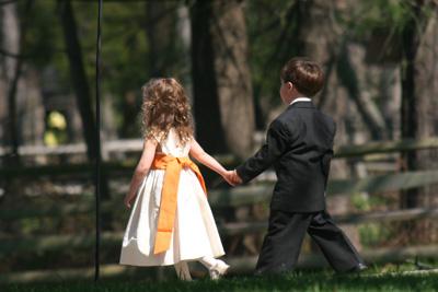 Kids playing grownup